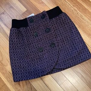 NWT Silence & Noise plaid wool mini skirt Purple 6